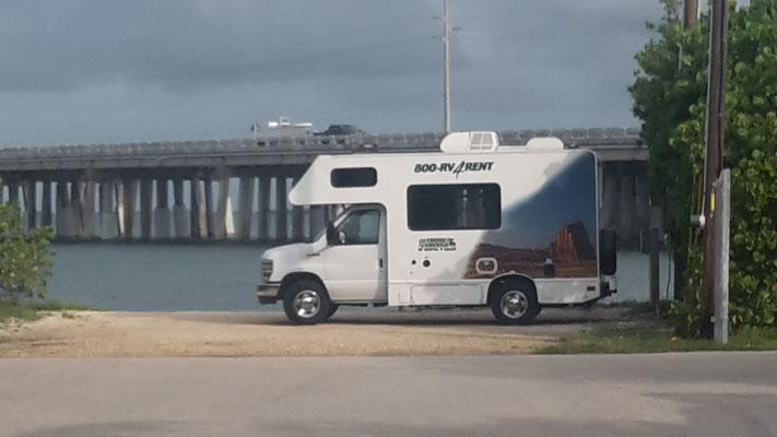 Der Camper vor der 7-Mile Bridge auf den Keys