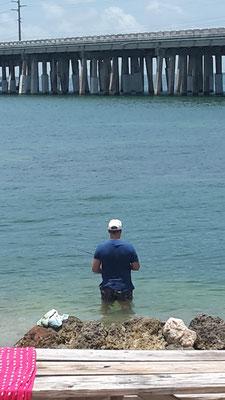 Ich beim Angeln auf den Florida Keys
