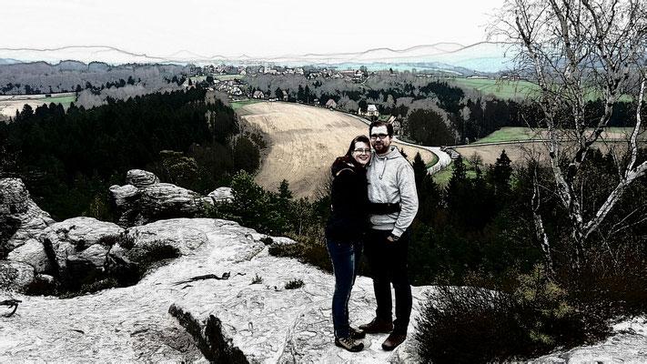 Stephanie & Ich in der Sächsischen Schweiz 2016
