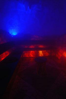 Die Solevernebelung in Nebel gehüllt.