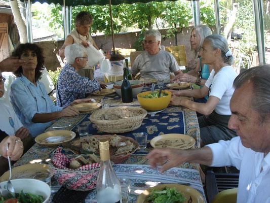 repas et gastronomie à St Cyprien sur Dourdou Aveyron