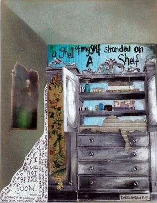 Rebekkassine, Rebekka Endler, Self on Shelf, Mixed Media, 2014