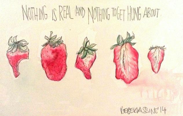 Rebekkassine, Rebekka Endler, Watercolor, Beatles,  2014