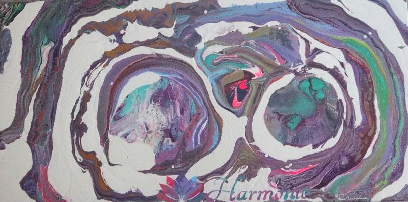 """""""Harmonie"""" pouring sur toile XXL 100x50."""