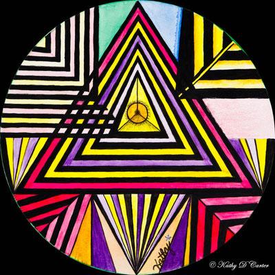 Healing Art Mandala by Kathy D Carter