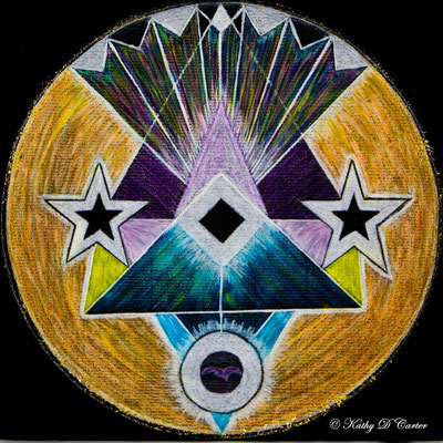 """Second Chakra"" Healing Art Mandala by Kathy D Carter"