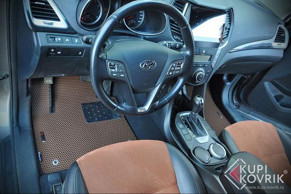 Автомобильные коврики EVA для Hyundai Santa Fe III