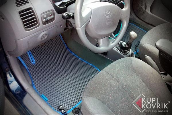 Автомобильные коврики EVA для Hyundai Accent II