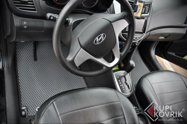 Автомобильные коврики EVA для Hyundai Solaris I
