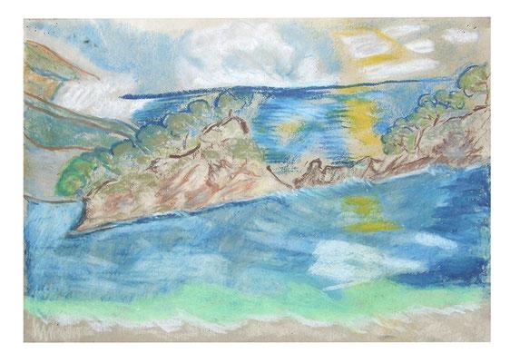 "Pastell ""Öli Deniz"", Werk-Nr. 079, Florence Solvay"