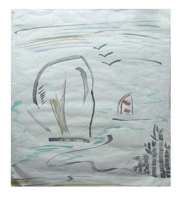 "Aquarell ""Krabi I Thailand"", Werk-Nr. 072, Florence Solvay"