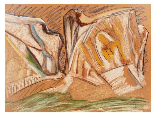 """Pastell """"Vorfrühling Schweiz"""", Werk-Nr. 059, Florence Solvay"""