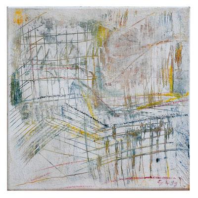 """Abstrakt """"Architektur Grün"""", Werk-Nr. 007, Florence Solvay"""