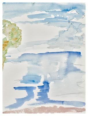 """Aquarell """"Cinque Terre"""", Werk-Nr. 107, Florence Solvay"""