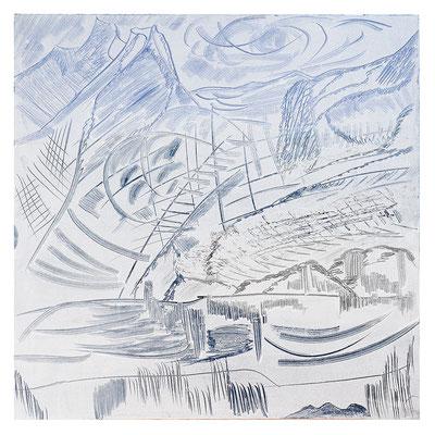 "Landschaft ""Wetterhorn I"", Werk-Nr. 013, Florence Solvay"