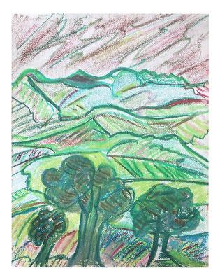 """Landschaft """"Berge II"""", Werk-Nr. 094, Florence Solvay"""