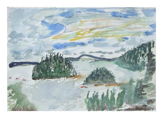 """Aquarell """"Alaska I"""", Werk-Nr. 066, Florence Solvay"""