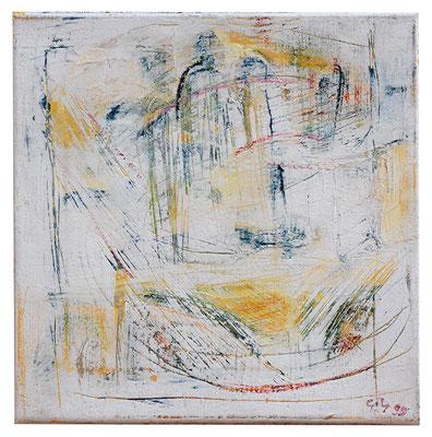 """Abstrakt """"Architektur Gelb"""", Werk-Nr. 006, Florence Solvay"""