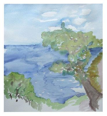 "Aquarell ""Liguriene"", Werk-Nr. 074, Florence Solvay"