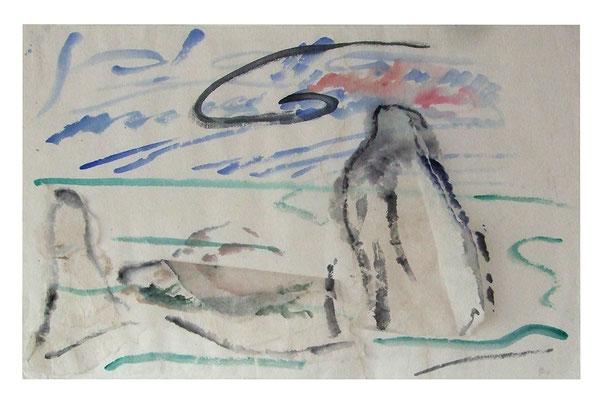 "Aquarell ""Thailand I"", Werk-Nr. 069, Florence Solvay"