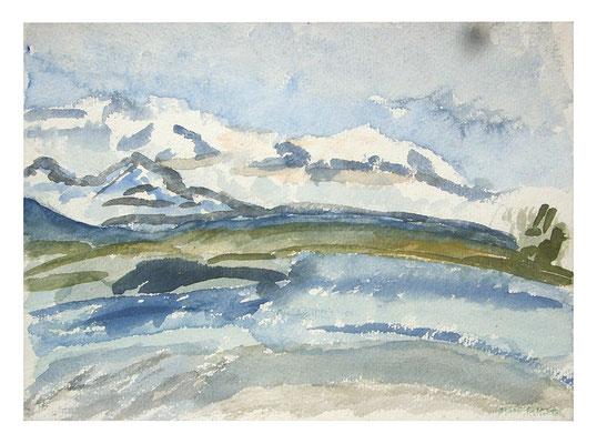"Aquarell ""Alaska II"", Werk-Nr. 067, Florence Solvay"