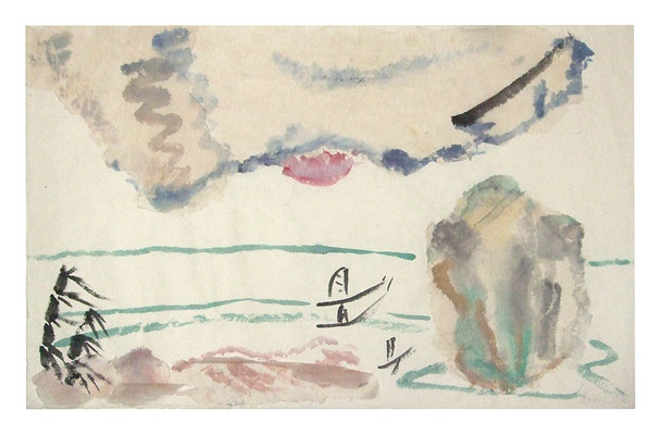 "Aquarell ""Thailand II"", Werk-Nr. 070, Florence Solvay"