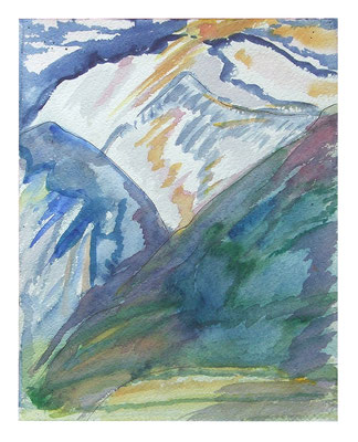 "Aquarell ""Bernina II"", Werk-Nr. 097, Florence Solvay"