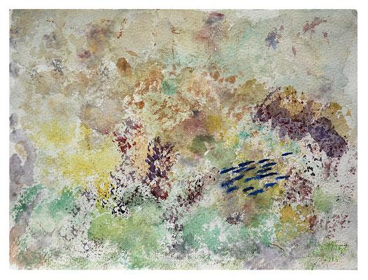 "Aquarell ""Korallendruck Fidji II"", Werk-Nr. 052, Florence Solvay"