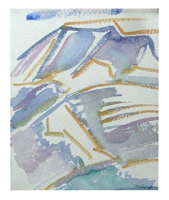 """Aquarell """"Bernina I"""", Werk-Nr. 096, Florence Solvay"""