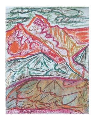 """Landschaft """"Berge I"""", Werk-Nr. 093, Florence Solvay"""
