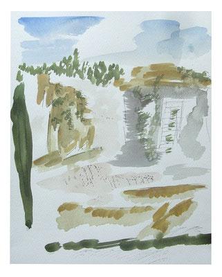 """Aquarell """"Rom I"""", Werk-Nr. 099, Florence Solvay"""