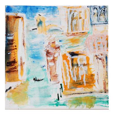 """Landschaft """"Venedig im Sonnenlicht"""", Werk-Nr. 033, Florence Solvay"""