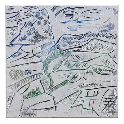 "Landschaft ""Wetterhorn I"", Werk-Nr. 012, Florence Solvay"