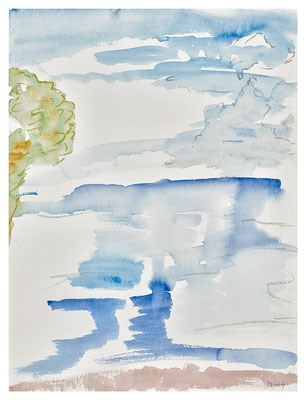 "Landschaft ""Cinque Terre"", Werk-Nr. 107, Florence Solvay"