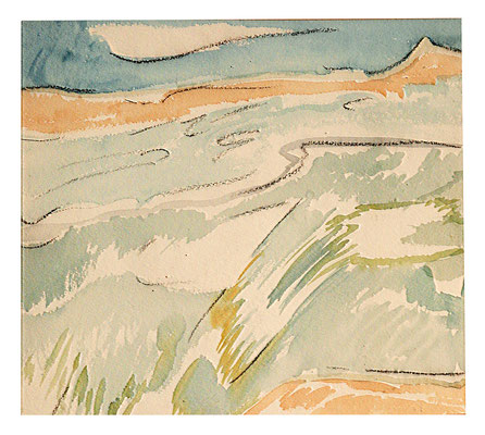 """Aquarell """"Bretagne"""", Werk-Nr. 047, Florence Solvay"""