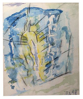 "Aquarell ""Durchgang Tunesien"", Werk-Nr. 045, Florence Solvay"