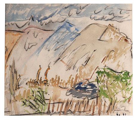 """Landschaft """"Kenia"""", Werk-Nr. 061, Florence Solvay"""
