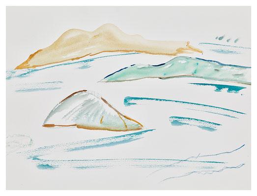 """Aquarell """"Kornaten Archipel"""", Werk-Nr. 108, Florence Solvay"""