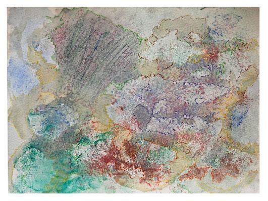 "Aquarell ""Korallendruck Fidji I"", Werk-Nr. 051, Florence Solvay"