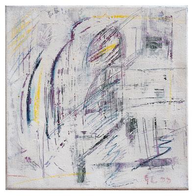 "Abstrakt ""Architektur Lila"", Werk-Nr. 005, Florence Solvay"