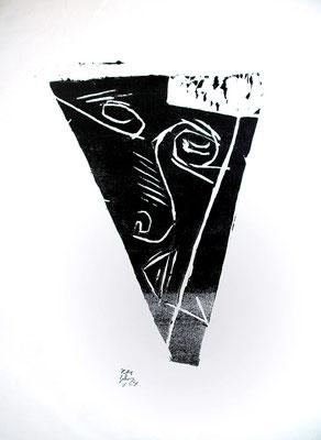 Holzschnitt, Werk-Nr. 134, Florence Solvay