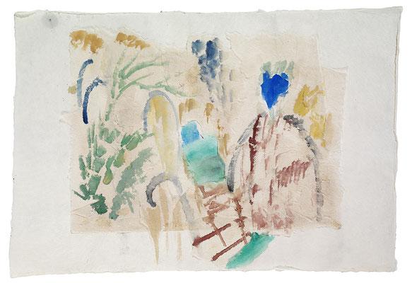 "Aquarell ""Thailand III"", Werk-Nr. 071, Florence Solvay"