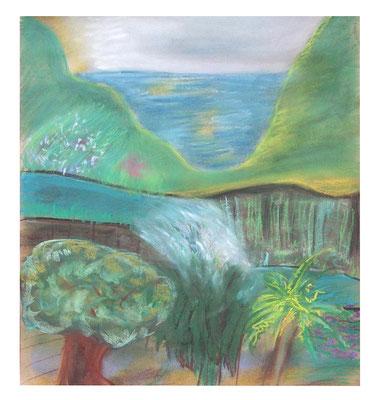 "Pastell ""Madeira II"", Werk-Nr. 082, Florence Solvay"