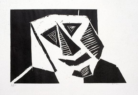 Holzschnitt, Werk-Nr. 127, Florence Solvay