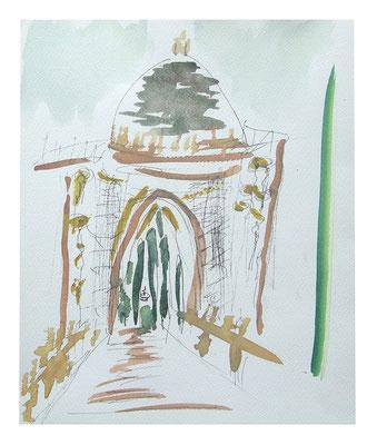"""Landschaft """"Rom II"""", Werk-Nr. 100, Florence Solvay"""