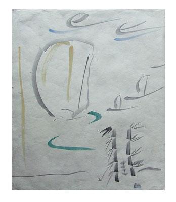 "Aquarell ""Krabi II Thailand"", Werk-Nr. 073, Florence Solvay"