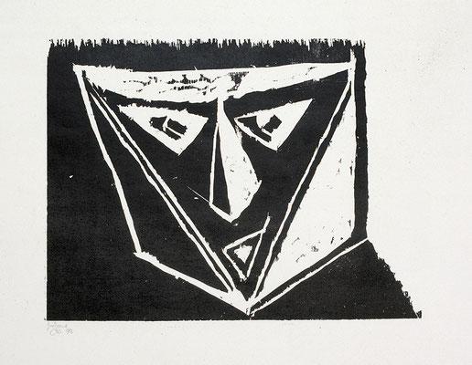 Holzschnitt, Werk-Nr. 129, Florence Solvay