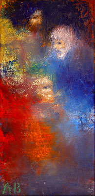 Агабалаев — «Покаяние», 2004; xолст, масло; 40х20 см