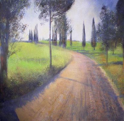 Надежда Анфалова — «Дорога. Италия». Холст, темпера, 95*95 см, 2006.