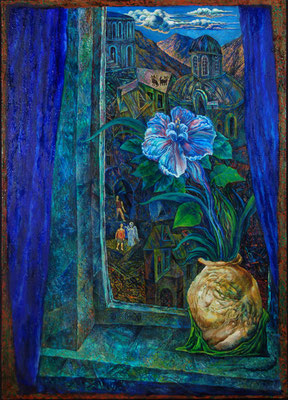 Ночная фиалка, х., м., 70х50, 1996